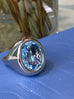 Essential - One of a Kind Cocktail Ring with Aquamarine, 18k White Gold