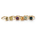 Gaia - Medium Stackable Ring with London Blue Topaz, 18k Yellow Gold