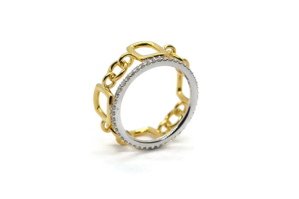 A-FURST-GAIA-ORO-BAND-RING-DIAMONDS-WHITE-YELLOW-GOLD-A1874GB1