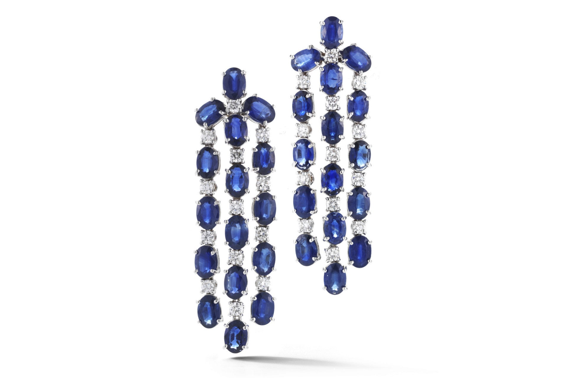 Nightlife chandelier earrings with blue sapphires and diamonds nightlife chandelier earrings with blue sapphires and diamonds 18k white gold aloadofball Images