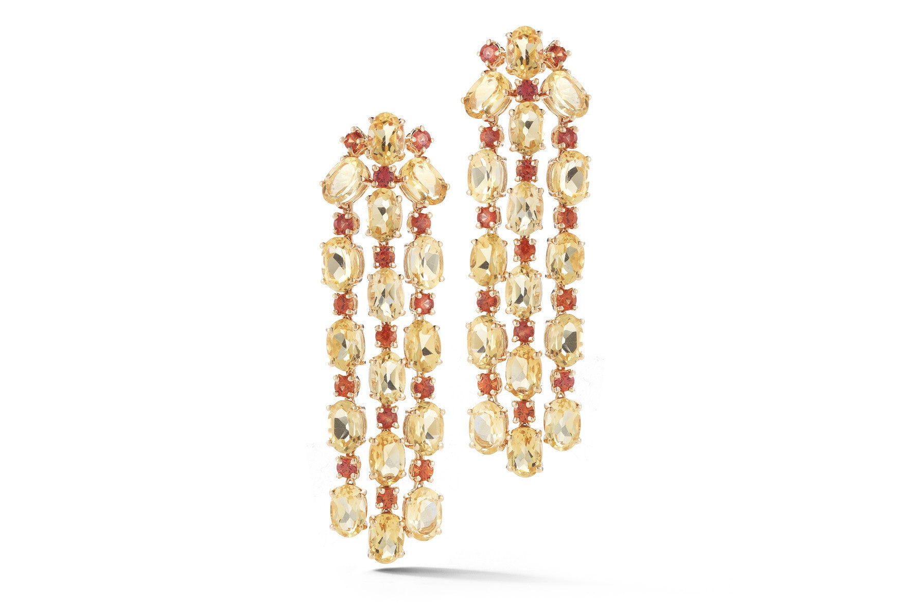 Nightlife chandelier earrings with citrine and orange sapphires nightlife chandelier earrings with citrine and orange sapphires 18k rose gold mozeypictures Gallery