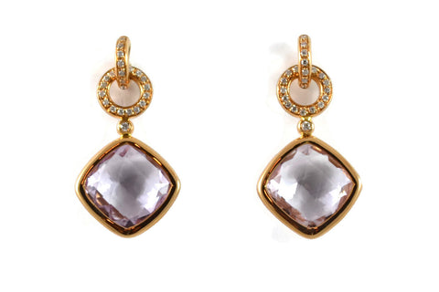 LIVELY-CASUAL-EVERIDAY-STYLE-JEWELRY-A-FURST-JICKY-DROP-EARRINGS-WITH-ROSE-DE-FRANCE-LAVENDER-AMETHYST-DIAMONDS-ROSE-GOLD