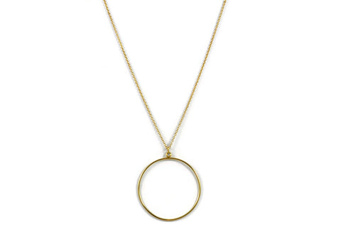 Joie de Vivre - 18k Yellow Gold Pendant with 1 Diamond.