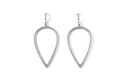 Joie de Vivre - Drop Earrings with Diamonds, 18k White Gold.