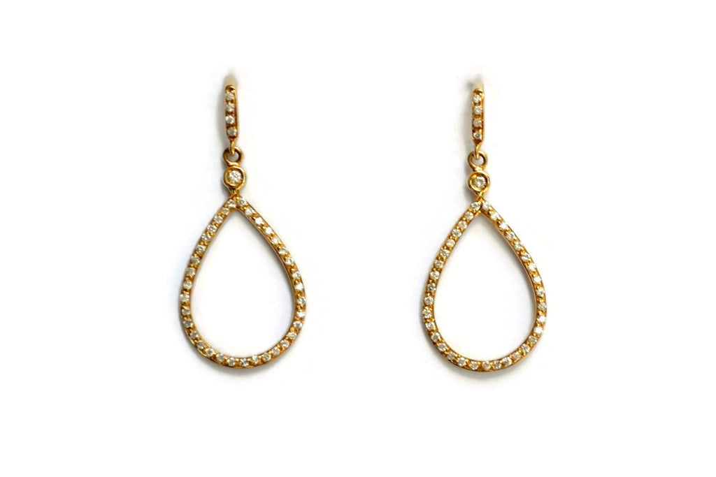 Joie de Vivre - Drop Earrings with Diamonds, 18k Yellow Gold.