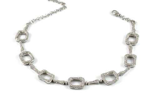 Les Bois - Necklace with Diamonds, 18k White Gold