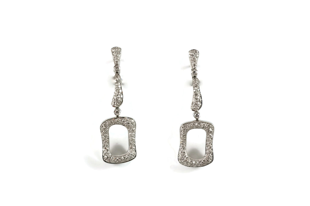 Les Bois - Earrings with Diamonds, 18k White Gold.