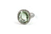 Le Grand Magnifique - Ring with Green Amethyst (Prasiolite) and Diamonds, 18k White Gold.