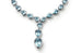 Picnic - Y Necklace with Blue Topaz and Diamonds, 18k White Gold.