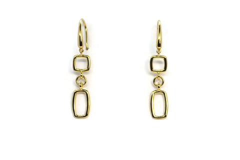 Gaia Oro - 18k Yellow Gold Drop Earrings