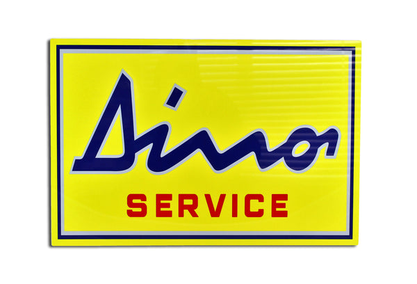 Dino Dealer Metal Service Sign