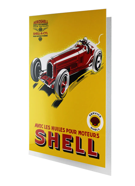 Aeroshell 1934 Shell Oil and Gas Advertisement Metal Sign