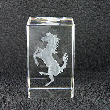 Crystal Cavallino Paperweight