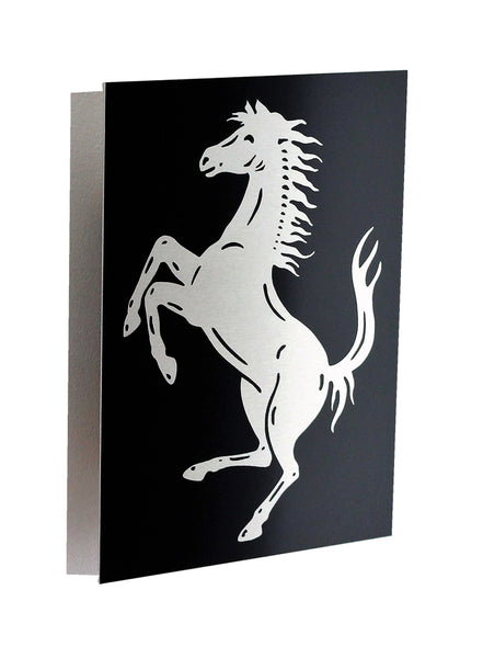 Ferrari Cavallino  Black Metal Sign