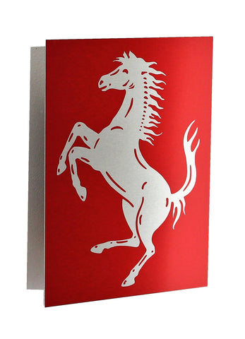 Ferrari Cavallino  Red Metal Sign