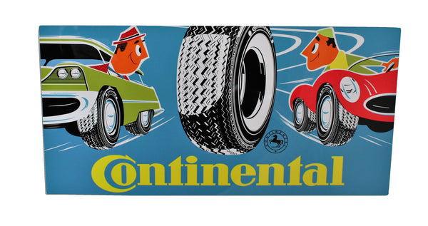 Vintage 1958 Continental Tire Metal Sign