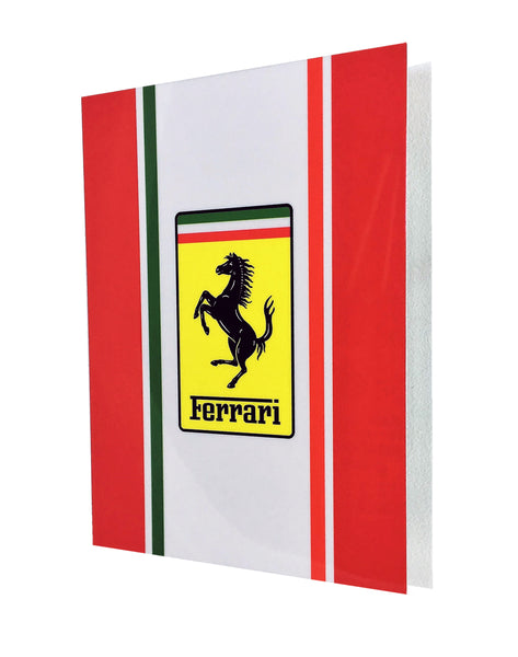 Ferrari Badge Emblem Challenge Stripe Sign