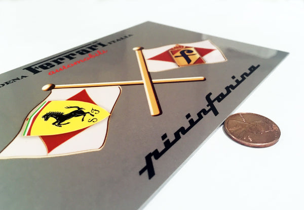 Pininfarina Ferrari Badge, Italy Flag Sign