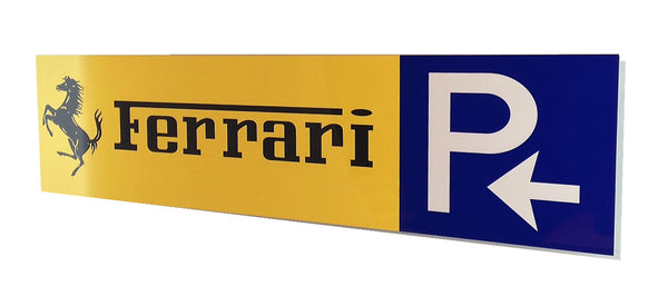 Ferrari Shell Passion Metal Banner Sign