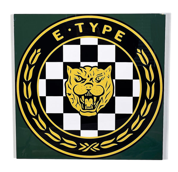 Jaguar E-Type Emblem 1950 - 60's,  Metal Sign