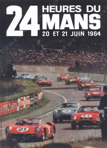 1964 Le Mans 24 Hour Program Cover Wall Print