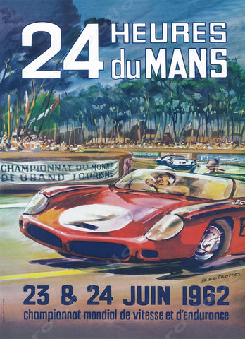 1962 Le Mans 24 Hour Program Cover Wall Print