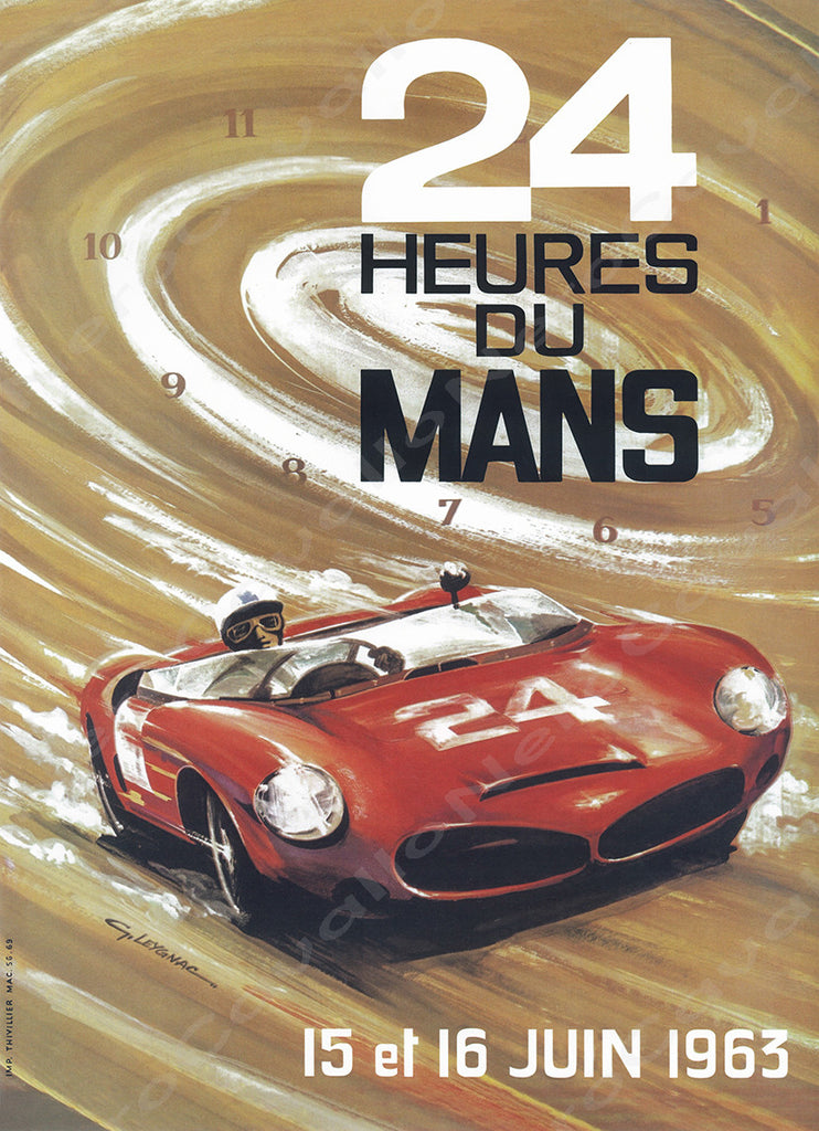 1963 Le Mans 24 Hour Program Cover Wall Print
