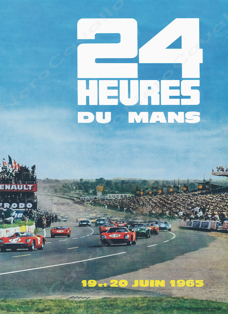 1965 Le Mans 24 Hour Program Cover Wall Print