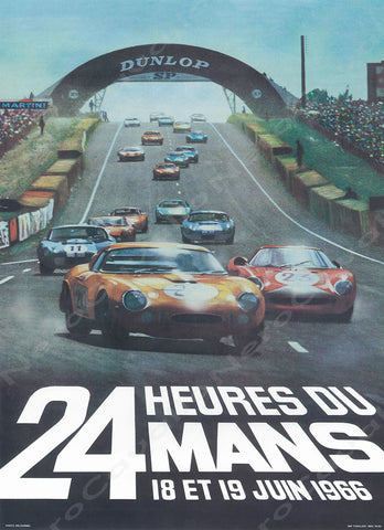 1966 Le Mans 24 Hour Program Cover Wall Print