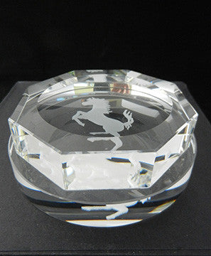 Crystal Hex Ferrari Spinner Paperweight 3