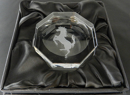 Crystal Hex Ferrari Spinner Paperweight 5