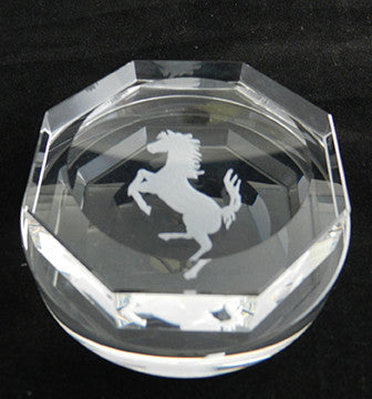 Crystal Hex Ferrari Spinner Paperweight 2