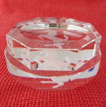 Crystal Hex Ferrari Spinner Paperweight 4