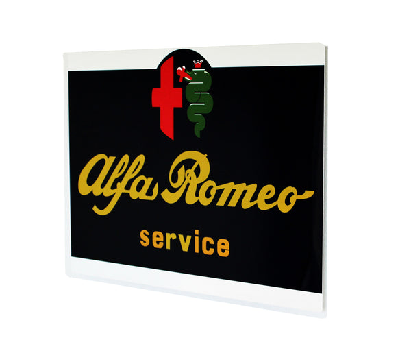 Vintage Alfa Romeo Metal US Dealer Sign, 1970 - 80's