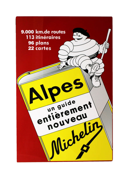Michelin Guide Cover, Metal Sign