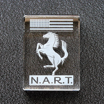 Crystal NART Ferrari Badge Paperweight 6