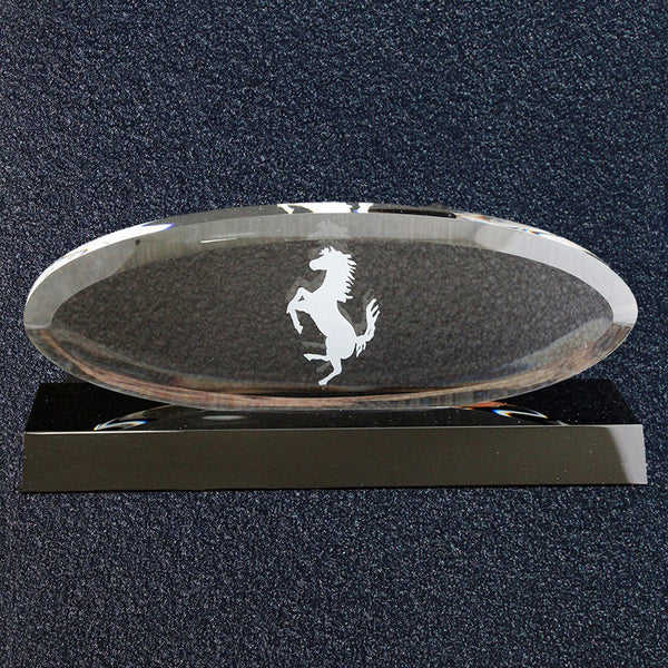 Ferrari Concours Award-Crystal Oval Grille , Black Base 1