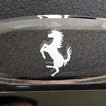 Ferrari Concours Award-Crystal Oval Grille , Black Base 2