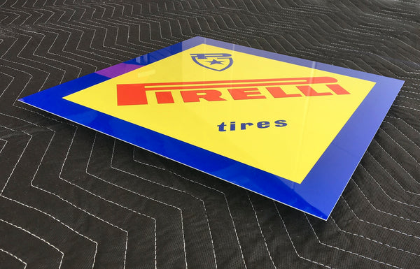 Pirelli Dealer Sign 1960's, Diamond Shape