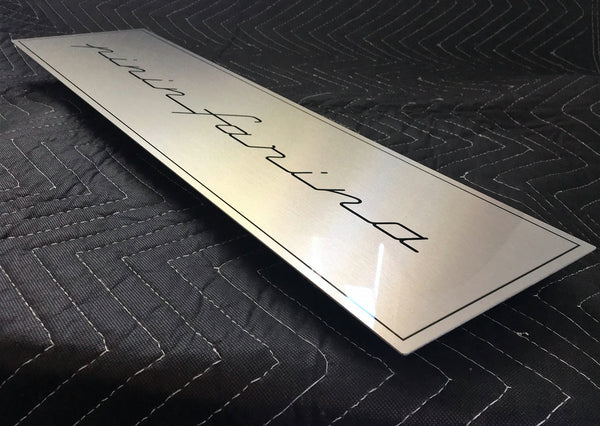 Pininfarina Fender Badge, Metal Sign