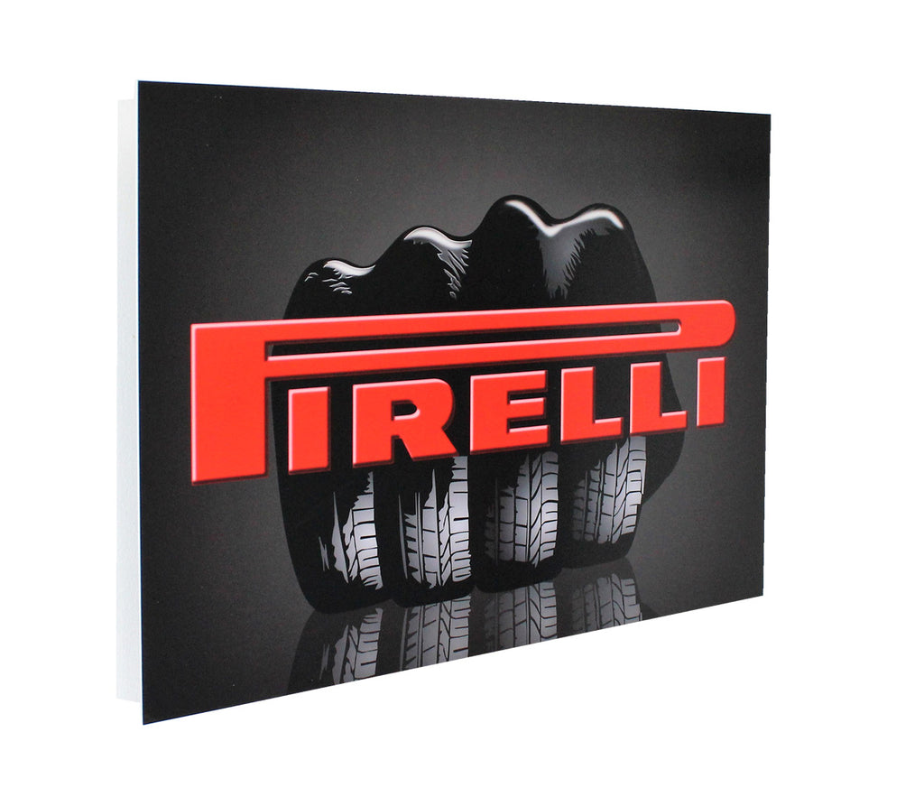Pirelli Glove Advertisement Metal Sign