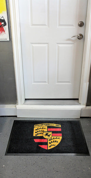 Porsche Emblem Floor Door Mat, Black