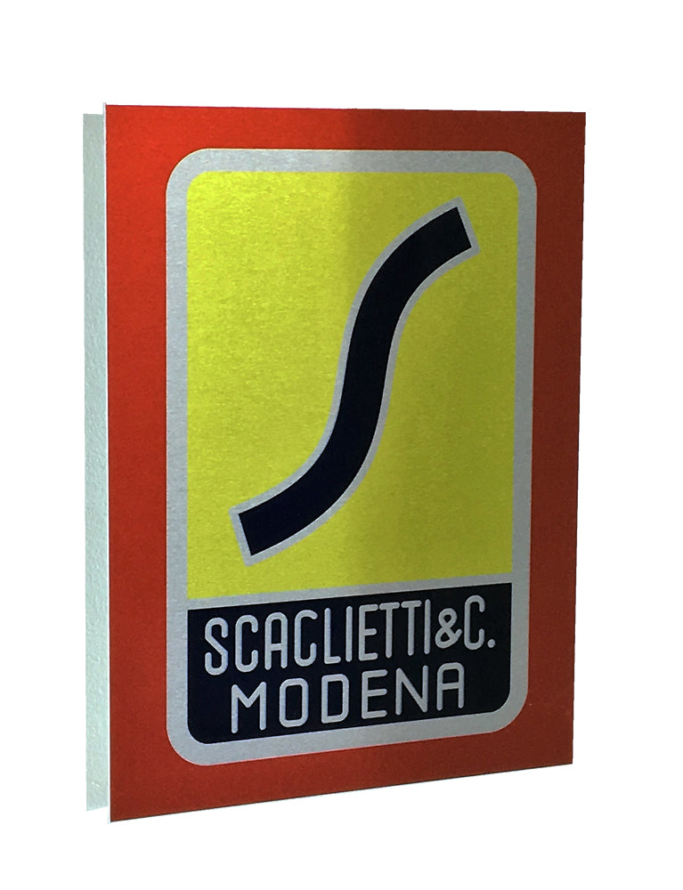 Scaglietti Badge Emblem 1 Metal Sign