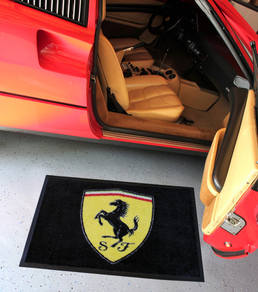 Ferrari Shield Floor Mat, Black