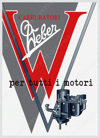 Weber Carburetor Italian Advertisement 1951