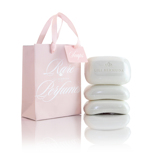 Pink Bag of Three Soaps