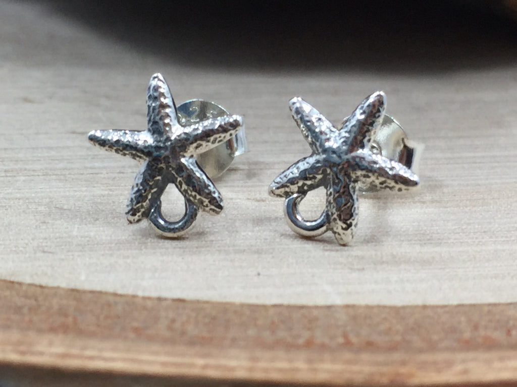 Star Fish Earrings, Starfish Posts, Beach Earrings, Ocean Earrings, Beach Wedding, Beach Jewelry, Ocean Jewelry, Sterling Silver