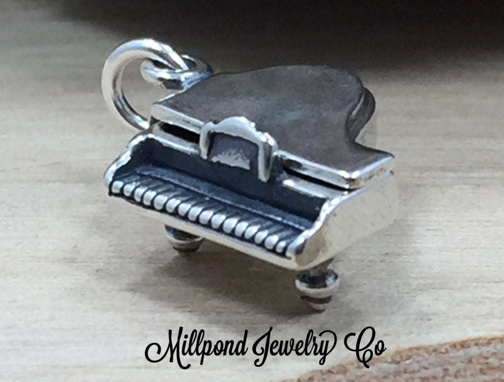 Piano Charm, Grand Piano Charm, Band Charm, Music Charm, Music Lover, Sterling Silver Charm