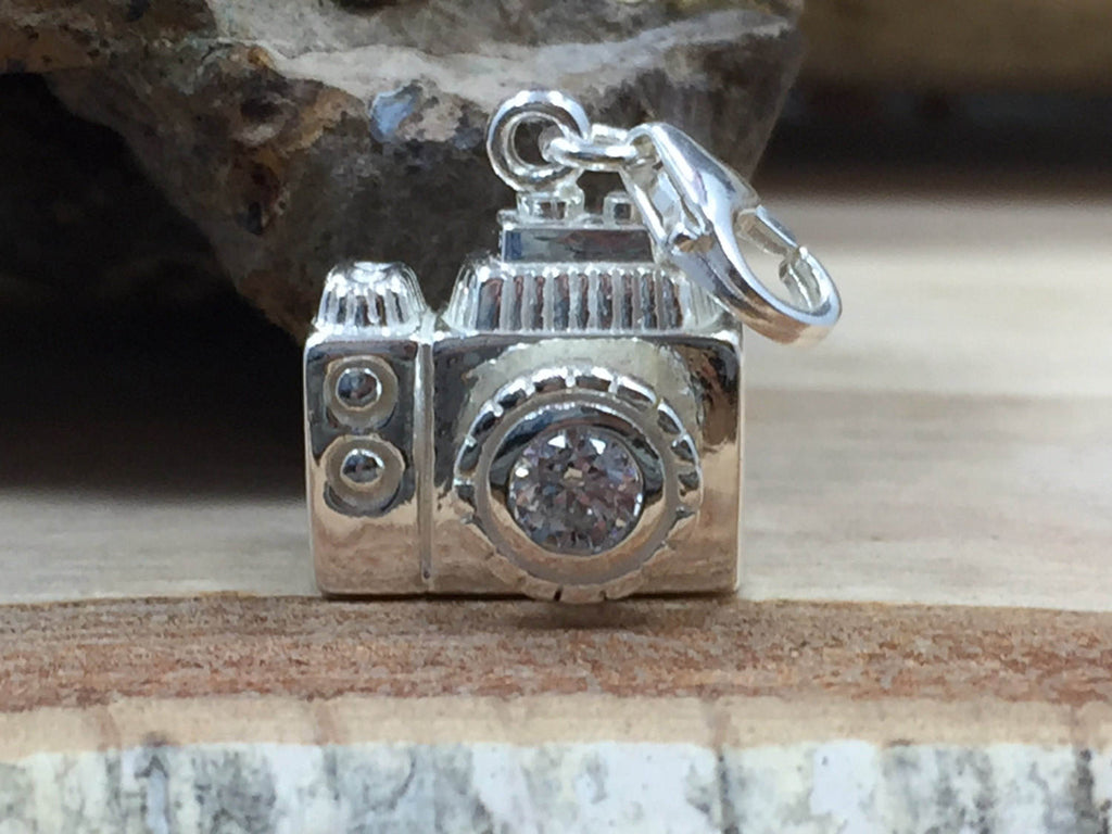 Camera Charm, Photography Charm, Photographer Charm, Sterling Silver Charm, PS4237