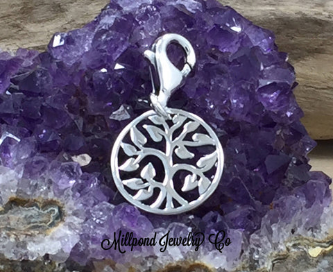 Tree of Life Pendant, Tree of Life Charm, Sterling Silver Tree of Life, Family Tree Pendant, Family Tree Charm, Small, PS0192LC